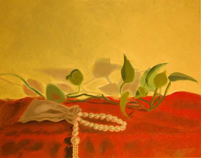 String Of Pearls Art Print by Krishnamurthy S