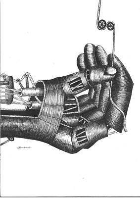 Master Piece Drawing - Strings In Control by Ramakant Soni