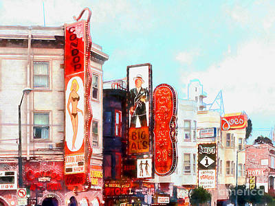 Photograph - Strip Club Carol Doda Condor Broadway San Francisco 20150127wcstyle Hor by San Francisco Art and Photography