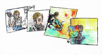 Vomit Painting - Strip by Trevor Davy