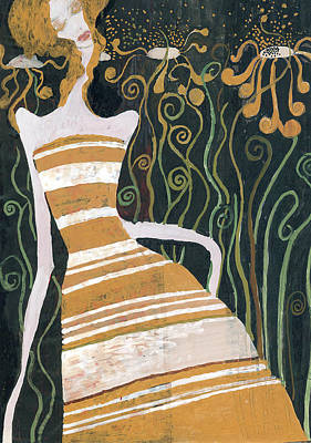 Stripe Dress Art Print