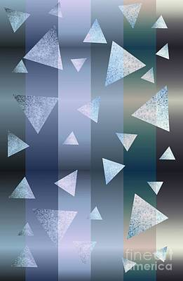 Mixed Media - Stripe Metal Triangle Abstract by Rachel Hannah