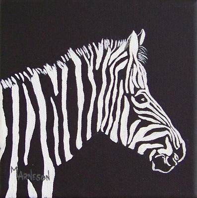 Wall Art - Painting - Stripe My World by Mary Arneson