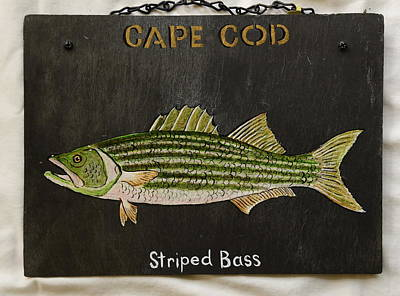 Painting - Striped Bass by Jacqueline Del  Fonso