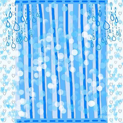 Digital Art - Striped Bubbles Design 2 by Joan-Violet Stretch