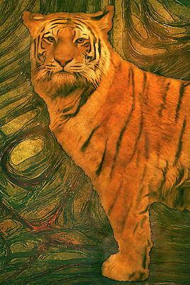 Design Pics Painting - Striped Cat by Jack Zulli