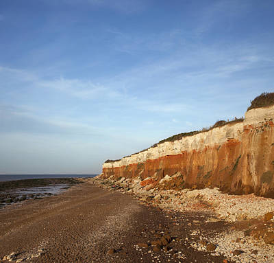 Photograph - Striped Cliffs Hunstanton Norflok by Gillian Dernie