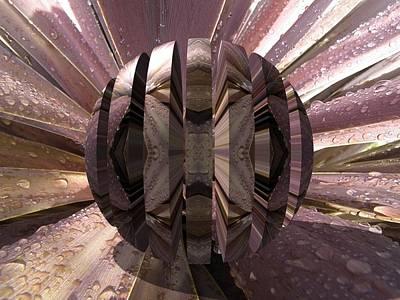 Digital Art - Striped Orb by Sue Masterson