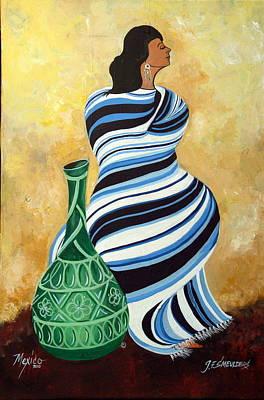 Striped Pancho Art Print