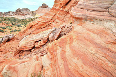 Photograph - Striped Sandstone Along Park Road In Valley Of Fire by Ray Mathis