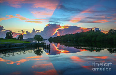 Photograph - Striped Sunrise by Tom Claud