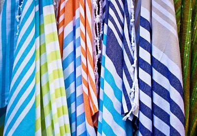 Striped Textiles Art Print by Tom Gowanlock