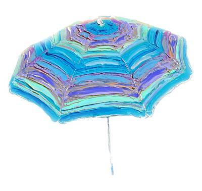 Striped Umbrella Print by Jan Matson