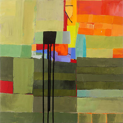 Abstract Painting - Stripes And Dips 1 by Jane Davies
