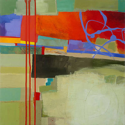 Abstract Painting - Stripes And Dips 2 by Jane Davies
