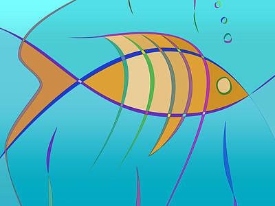 Colored Pencils - Stripes - Fish by Carlos Vieira