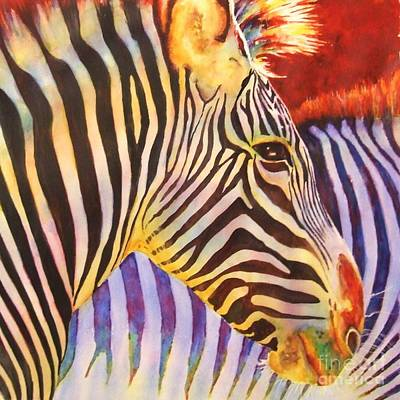 Zebra Painting - Stripes by Greg and Linda Halom