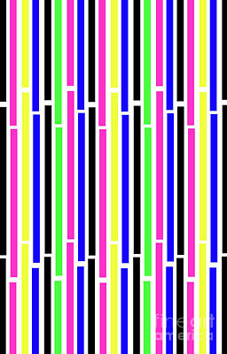 Abstract Forms Digital Art - Stripes by Louisa Knight