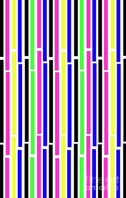 Repeat Digital Art - Stripes by Louisa Knight