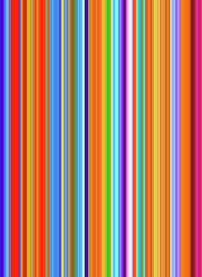 Colored Digital Art - Stripes Of A Moment #v008 by Eva Vladi
