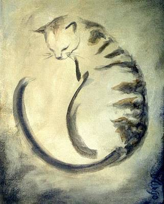 Painting - Stripey Cat 1  by Dina Dargo