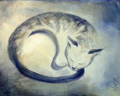 Painting - Stripey Cat 3 by Dina Dargo