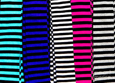 Pink Photograph - Stripey Tubes by Andy Smy