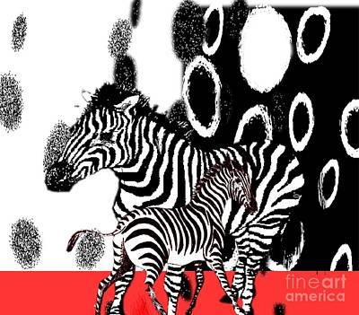 Painting - Stripes And Spots by Belinda Threeths