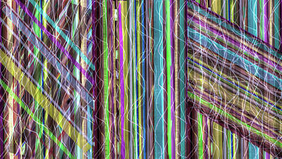 Digital Art - Strips And Strands 2 by SC Heffner