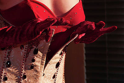 Beaded Gloves Photograph - Striptease by Ecindy Stein