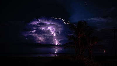Photograph - Strobing Thunderstorm 2 Delray Beach Florida by Lawrence S Richardson Jr