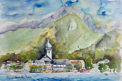 Painting - Strobl Austria by Ingrid Dohm