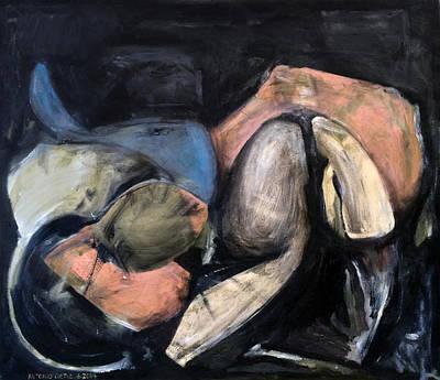 Baselitz Painting - Stroke by Antonio Ortiz