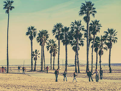 On The Beach Photograph - Stroll Down Venice Beach by Az Jackson