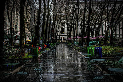 Stroll In The Park  Art Print by Luis Rosario