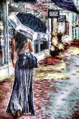 Digital Art - Stroll In The Rain by Pennie McCracken