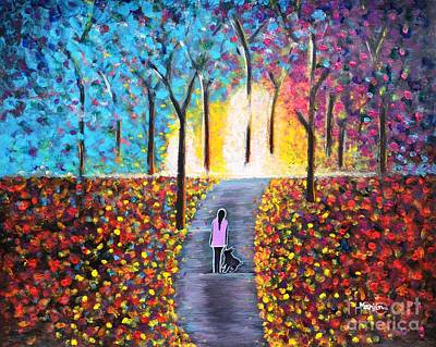 Painting - Stroll On The Pathway Colorful Painting by Manjiri Kanvinde