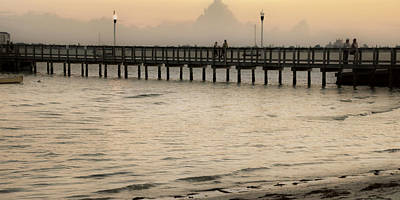 Photograph - Stroll On The Pier by Rose  Hill