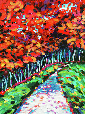 Wall Art - Painting - Stroll Through The Park by Charles Wallis