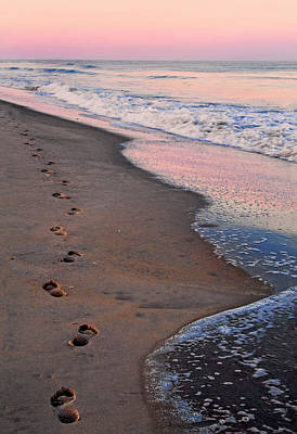 Photograph - Strolling Along The Beach At Sunset by Carolyn Derstine