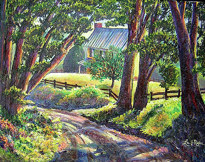 Painting - Strolling Down Old Rapidan Road Series by Lee Nixon