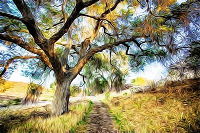 Strolling Down The Path Art Print by Carol Crisafi