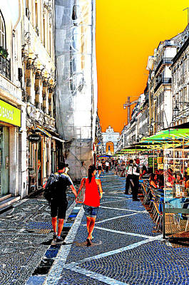 Photograph - Strolling In Lisbon, Portugal by Allan Rothman