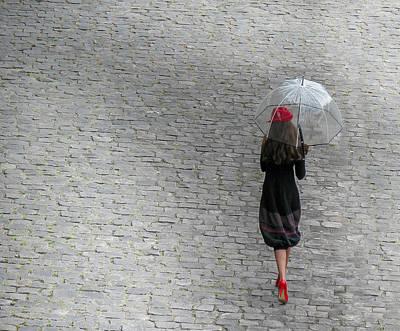 Strolling In Paris Art Print