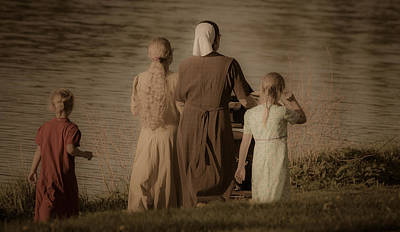 Photograph - Strolling Seamstress Family by Will Bailey