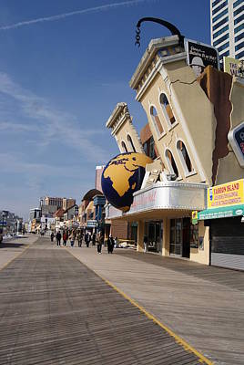 Photograph - Strolling The Atlantic City Boardwalk by Margie Avellino