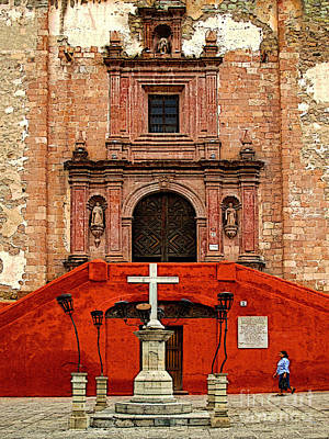 Strolling The Cathedral Plaza Art Print by Mexicolors Art Photography