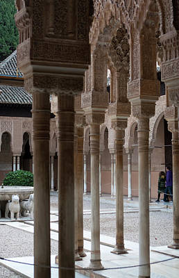 Photograph - Strolling The Courtyard Of The Lions by Lorraine Devon Wilke