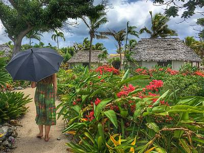 Photograph - Strolling The Tropical Path by Lawrence S Richardson Jr