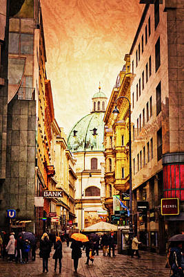 A Rainy Day In Vienna Art Print